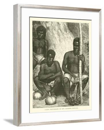 Native Fruit-Sellers of New Caledonia, Papuans--Framed Giclee Print