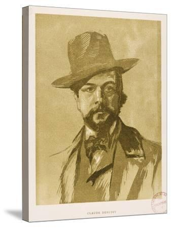 Portrait of Claude Debussy--Stretched Canvas Print