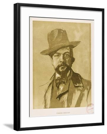Portrait of Claude Debussy--Framed Giclee Print