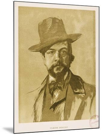 Portrait of Claude Debussy--Mounted Giclee Print