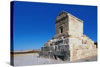Tomb of Cyrus Great, Pasargad--Stretched Canvas Print
