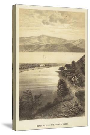 Coast Scene on the Island of Hawaii--Stretched Canvas Print
