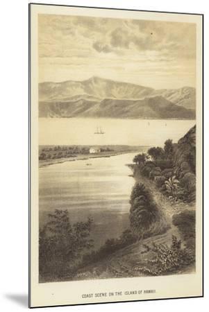 Coast Scene on the Island of Hawaii--Mounted Giclee Print