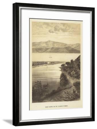 Coast Scene on the Island of Hawaii--Framed Giclee Print