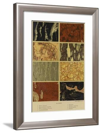 Types of Marble--Framed Giclee Print