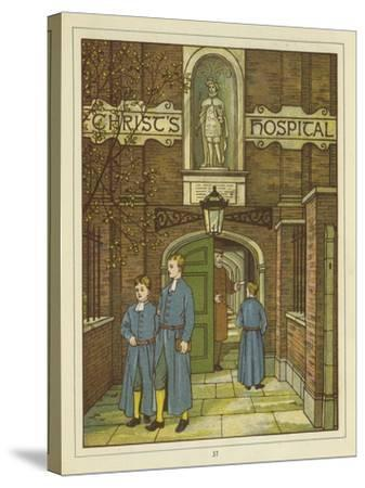 Christ's Hospital in Greyfriars-Thomas Crane-Stretched Canvas Print