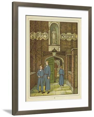 Christ's Hospital in Greyfriars-Thomas Crane-Framed Giclee Print