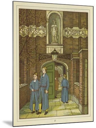 Christ's Hospital in Greyfriars-Thomas Crane-Mounted Giclee Print