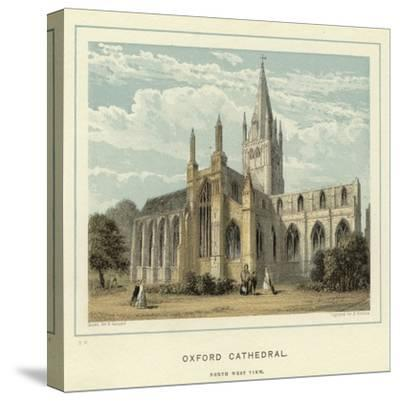 Oxford Cathedral, North West View--Stretched Canvas Print