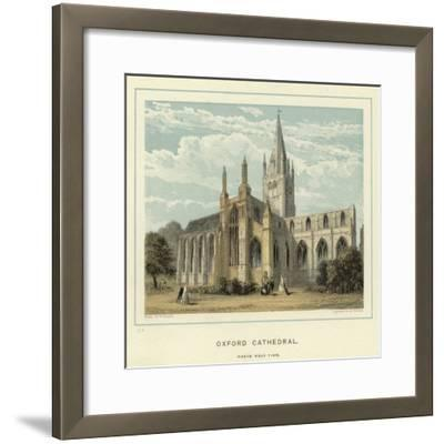 Oxford Cathedral, North West View--Framed Giclee Print