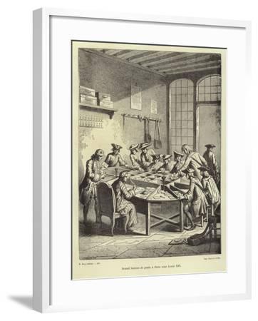 Paris Post Office under Louis Xvi--Framed Giclee Print