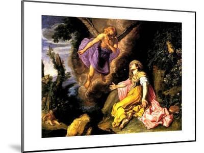 Hagar and the Angel, 1614-Pieter Lastman-Mounted Giclee Print