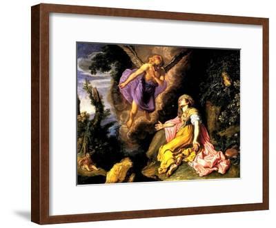 Hagar and the Angel, 1614-Pieter Lastman-Framed Giclee Print