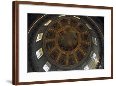 Vault of Dome of Cathedral, Hotel Des Invalides--Framed Giclee Print
