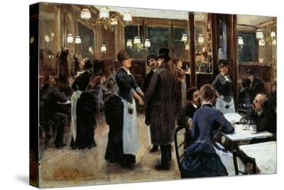 Brasserie of Fidelity-Giovanni Lessi-Stretched Canvas Print