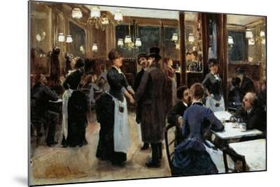Brasserie of Fidelity-Giovanni Lessi-Mounted Giclee Print