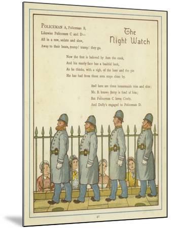 The Night Watch-Thomas Crane-Mounted Giclee Print