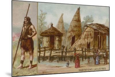 Lake Dwellings--Mounted Giclee Print