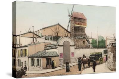 Moulin De La Galette, Montmartre, 1900--Stretched Canvas Print