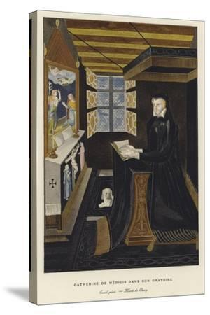 Catherine De' Medici in Her Oratory--Stretched Canvas Print