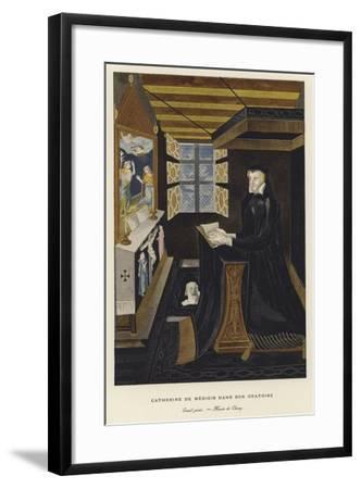 Catherine De' Medici in Her Oratory--Framed Giclee Print