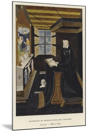Catherine De' Medici in Her Oratory--Mounted Giclee Print