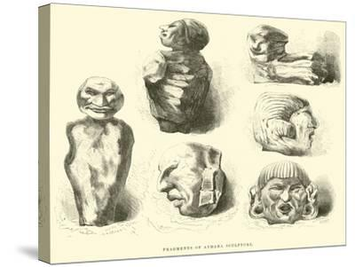 Fragments of Aymara Sculpture-?douard Riou-Stretched Canvas Print