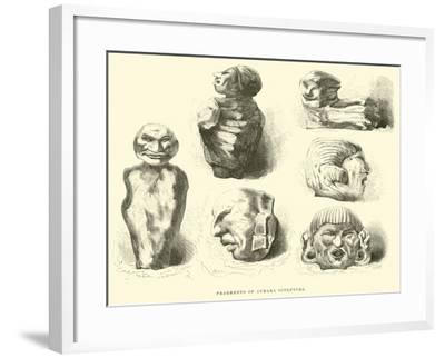 Fragments of Aymara Sculpture-?douard Riou-Framed Giclee Print