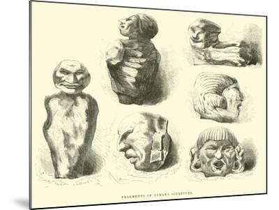 Fragments of Aymara Sculpture-?douard Riou-Mounted Giclee Print