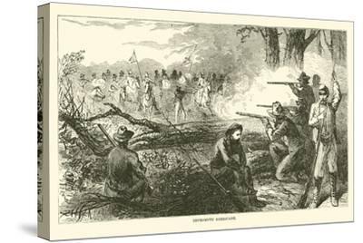Impromptu Barricade, July 1863--Stretched Canvas Print