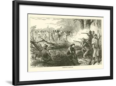 Impromptu Barricade, July 1863--Framed Giclee Print