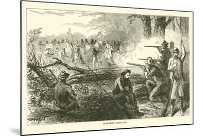 Impromptu Barricade, July 1863--Mounted Giclee Print