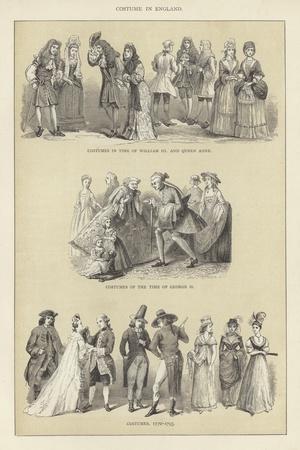 Costume in England--Framed Giclee Print