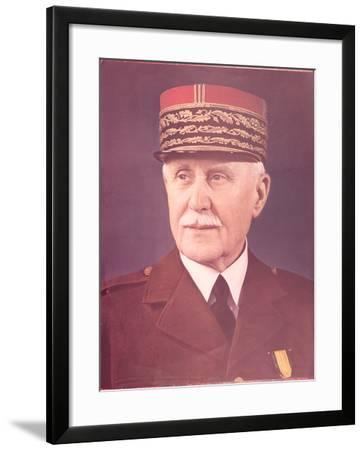 Official Portrait of Marshal Petain--Framed Photographic Print