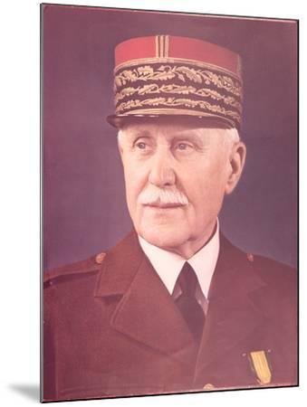 Official Portrait of Marshal Petain--Mounted Photographic Print