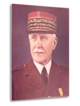 Official Portrait of Marshal Petain--Metal Print