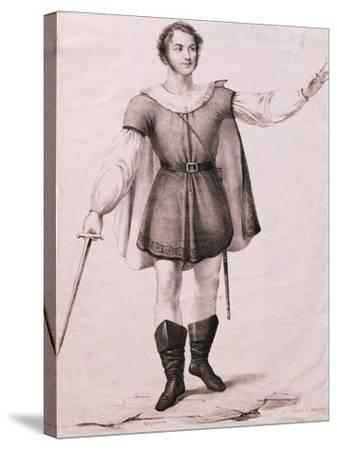 Portrait of Giovanni Battista Rubini--Stretched Canvas Print