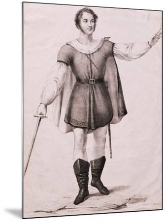 Portrait of Giovanni Battista Rubini--Mounted Giclee Print
