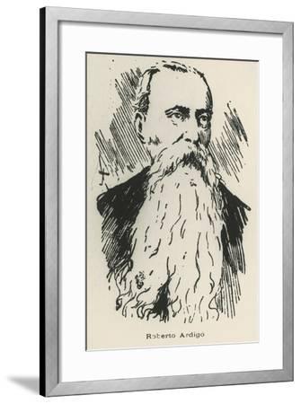Portrait of Roberto Ardigo--Framed Giclee Print