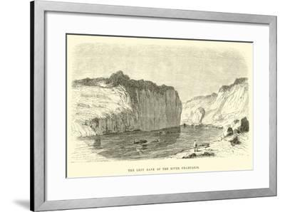 The Left Bank of the River Chahuaris-?douard Riou-Framed Giclee Print