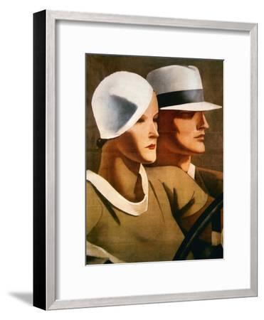 Advert for Italian Hatmaker Borsalino, 1929--Framed Giclee Print