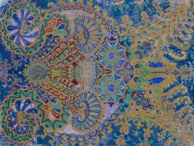 Kaleidoscope Cats VII-Louis Wain-Framed Giclee Print