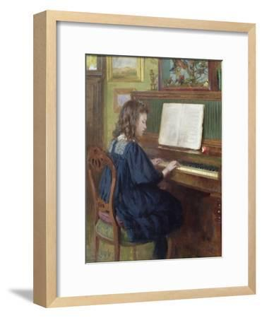 Playing the Piano-Ernest Higgins Rigg-Framed Giclee Print