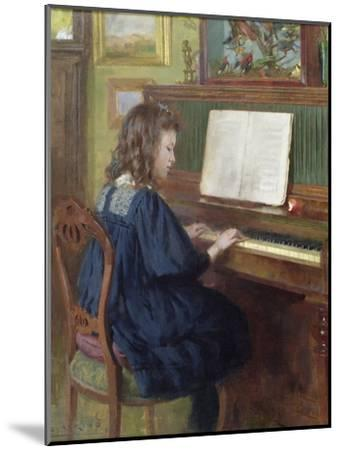 Playing the Piano-Ernest Higgins Rigg-Mounted Giclee Print
