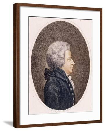 Portrait of Wolfgang Amadeus Mozart--Framed Giclee Print