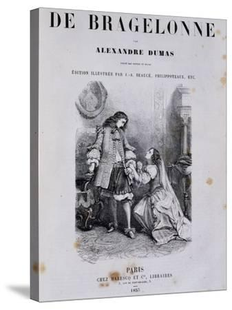 Title Page of Viscount De Bragelonne--Stretched Canvas Print