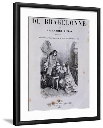 Title Page of Viscount De Bragelonne--Framed Giclee Print