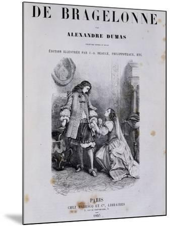 Title Page of Viscount De Bragelonne--Mounted Giclee Print