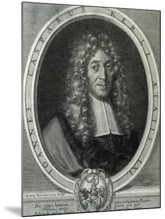 Portrait of Johann Kaspar Kerll--Mounted Giclee Print
