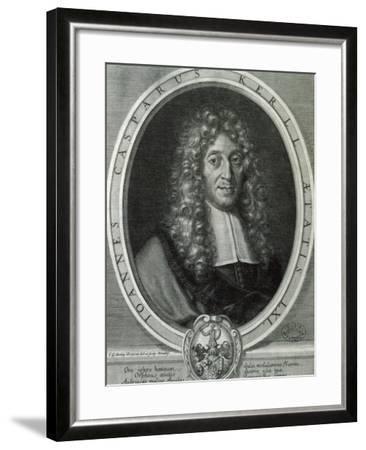 Portrait of Johann Kaspar Kerll--Framed Giclee Print